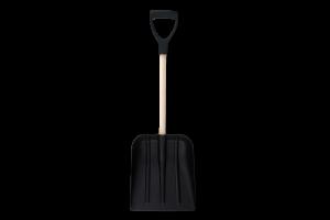 Лопата автомобильная пластиковая черная 310х270х890мм Krion 1шт