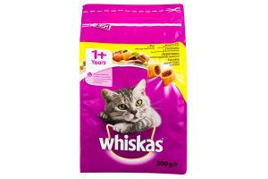 Корм для взрослых котов с курятиной Whiskas м/у 300г