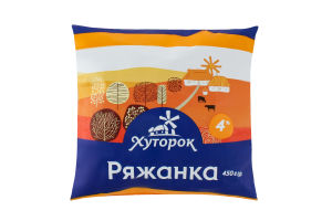 Ряженка 4% Хуторок м/у 450г