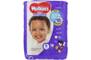 Huggies Little Movers Diapers Size 6 - 18 CT