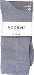 Шкарпетки чоловічі Accent №0022333325 39-41 сірий стальний