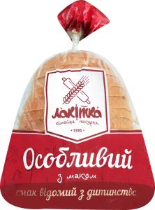 Хліб нарізний Особливий з маком Лакітка м/у 300г