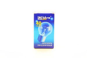 Лампа Искра PS45 40Вт Е27 прозр