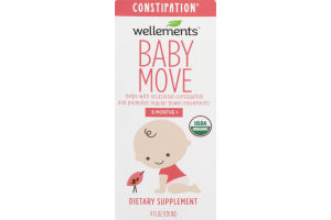 Wellements Baby Move Constipation Dietary Supplement 6 Months+