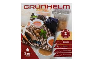 Ваги кухонні прямокутні 18х20см KES-1PTE Grunhelm 1шт