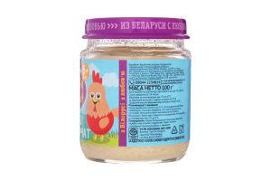 Пюре для дітей від 6міс з м'яса курчат Ложка в ладошке с/б 100г