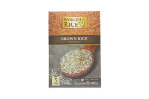 Рис Brown World's Rice к/у 5х80г