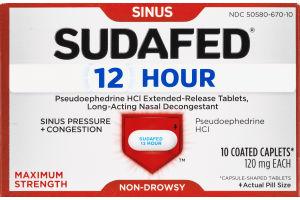 Sudafed 12 Hour Sinus Long-Acting Nasal Decongestant - 10 CT