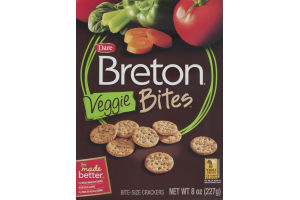 Dare Breton Veggie Bites Bite-Sized Crackers