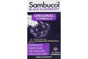 Sambucol Original Formula Black Elderberry Chewable Tablets - 30 CT