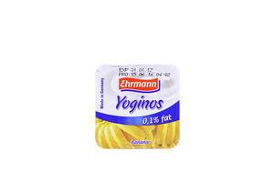 Десерт Ehrmann Yoginos Банан 0.1% 100г х24