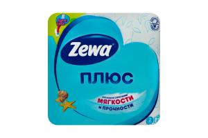 Папір туалетний 2-x шаровий Свіжість океану Плюс Zewa 4шт
