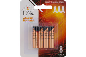 Smart Living Alkaline Batteries AAA - 8 CT