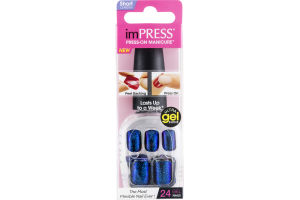 ImPRESS Press-On Manicure Ultra Gel Shine Gel Nails Bright As A Feather - 24 CT