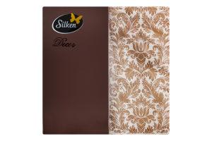 Серветки паперові 33х33см №NSD15333205 Silken 20шт