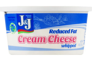 J&J Whipped Cream Cheese Reduced Fat