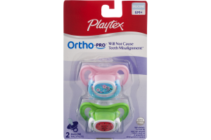 Playtex Ortho-Pro 6M+ Silicone Pacifiers - 2 CT
