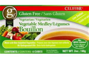 Celifibr Gluten Free Vegetable Medley Bouillon Cubes - 6 CT