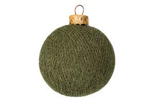 Прикраса новорічна 8см Куля бавовняна Блєск 1шт