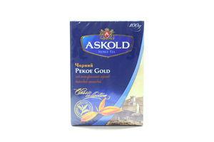 Чай черный листовой Pekoe Gold Classic Collection Askold к/у 100г