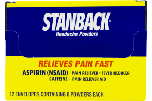 Stanback Headache Powders - 12/6 CT