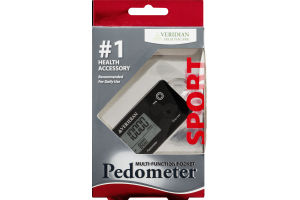 Veridian Healthcare Sport Multi-Function Pocket Pedometer