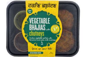 Cafe Spice Vegetable Bhajias Chutneys