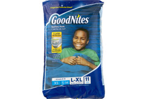 GoodNites Bedtime Pants Size 8 -14 - 11 CT