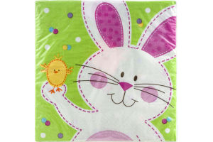 Smart Living Napkins Easter Bunny & Chick 12 7/8 in - 18 CT