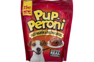 Pup-Peroni Dog Snacks Filet Mignon & Bacon Flavors