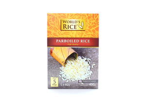 Рис Парбоилд в пакетиках World's Rice к/у 5х80г