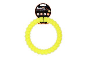 Снаряд тренировочный для собак 20см желтый №88156 Кольцо с шипами Fun AnimAll 1шт