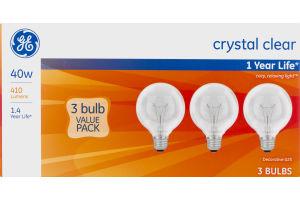 GE Lightbulbs Crystal Clear 40W - 3 CT
