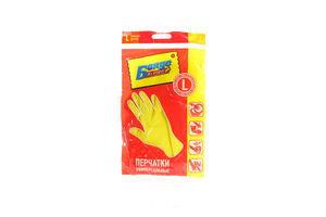 Перчатки резиновые универсальные Бонус L