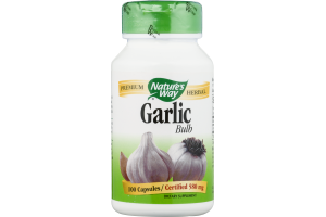 Nature's Way Garlic Bulb 580mg Capsules - 100 CT