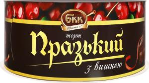 Торт Празький з вишнею БКК к/у 450г