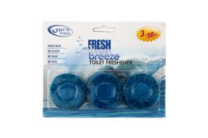 Шарики для сливного бачка туалета Fresh Ocean Breeze Ultra Fresh 3х50г