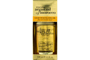 OGX Light Penetrating Oil for Fine & Brittle Hair Renewing Moroccan Argan Oil