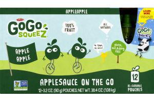 GoGo Squeez Applesauce On The Go Apple Apple - 12 PK
