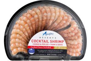 Aqua Star Reserve Cocktail Shrimp Thaw & Serve with Cocktail Sauce - 21-25 Shrimp