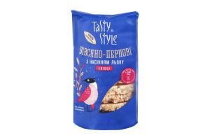 Хлібці з насiнням льону Biвсяно-перловi Tasty Style м/у 100г