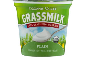 Organic Valley Grassmilk Cream On Top - Whole Milk Yogurt Plain