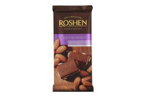 Шоколад Roshen молочний з цілим мигдалем 90г х21