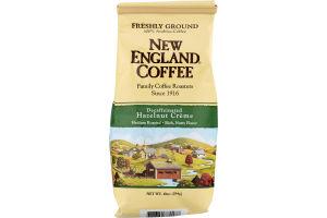 New England Coffee Decaffeinated Hazelnut Crème Medium Roasted Freshly Ground