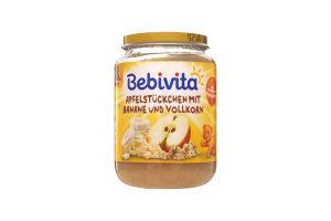 Пюре для детей от 8мес Яблоко и банан с злаками Bebivita с/б 190г