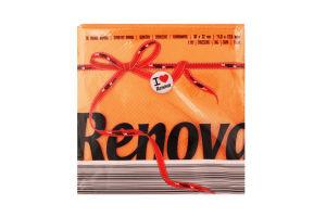 Renova Red Label серветки столові 32*30см 70шт помаранчеві