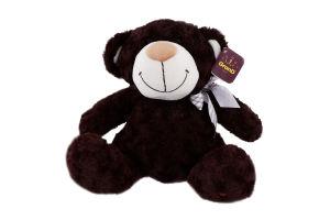 Игрушка мягкая для детей от 3лет коричневая с бантом 33см №3302GMB Медведь GranD 1шт