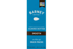 Barney Almond Butter on-the-go Snack Packs Smooth - 6 PK
