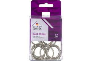 """Smart Living 1"""" Book Rings - 12 CT"""