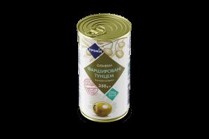 Оливки Премія зеленые фаршированные с тунцом
